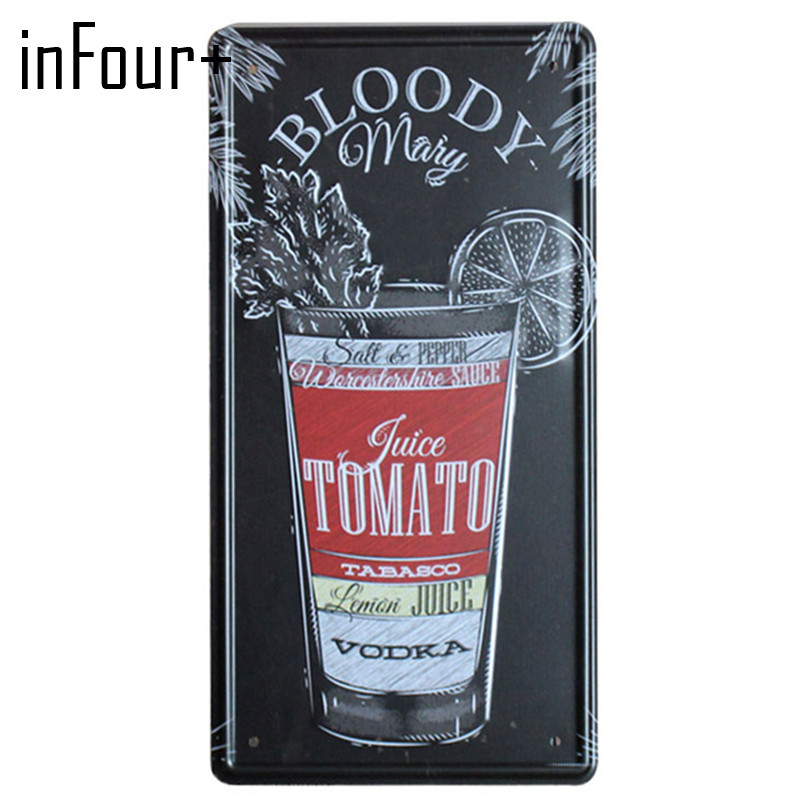 [inFour+] TOMATO VODKA Plate Metal Plate Car Number Tin Sign Bar Pub Cafe Home Decor Metal Sign Garage Painting Plaques Sign