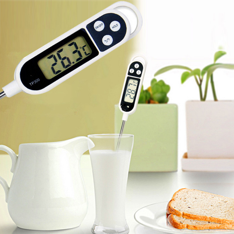 New Digital Food Thermometer BBQ Cooking Meat Hot Water Measure Probe Kitchen Tool E2shopping ...