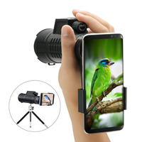 DEALS HD Spotting Scopes Optical Prism Telescope Universal Adapters with Hand Strap/Tripod for Cell Phone bird watching View