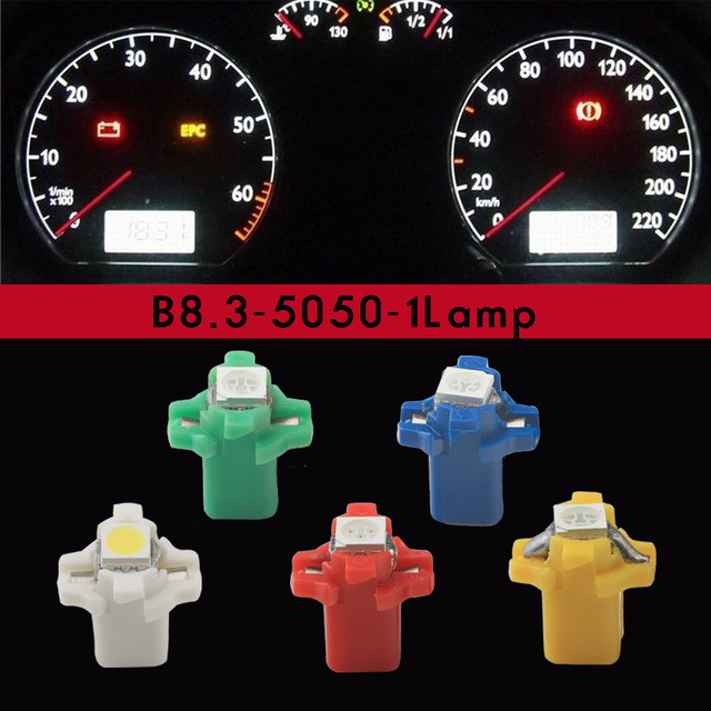10 Stks B8 3 5050 Led 1 Smd Auto Interieur Lamp Dashboard Lampen