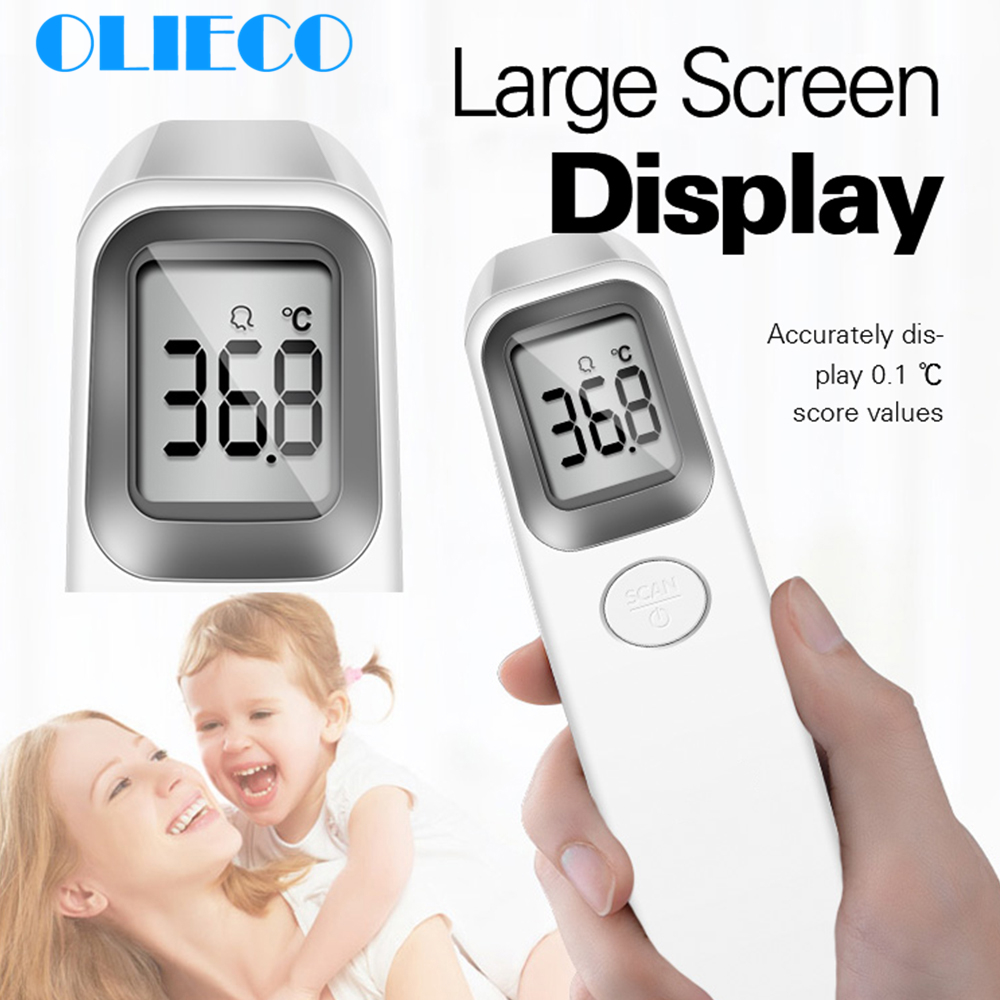 Forehead Non Contact Infrared Thermometer For Baby Adult Hospital Digital LCD Display Body Temperature Fever Measurement Tool