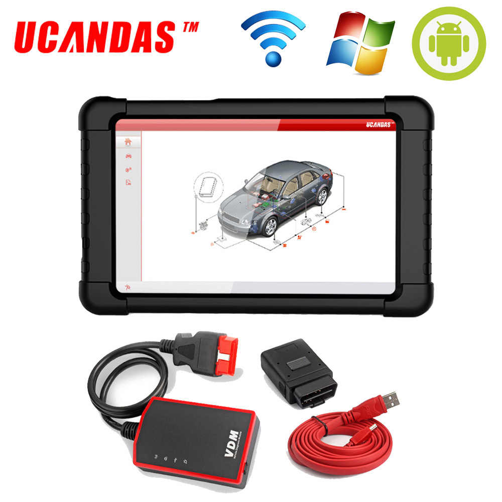 UCANDAS VDM WIFI OBD2 Automotive Scanner V4.5 Full system Auto Diagnostic Tool Multi-Language OBDII Car Scanner Free Update