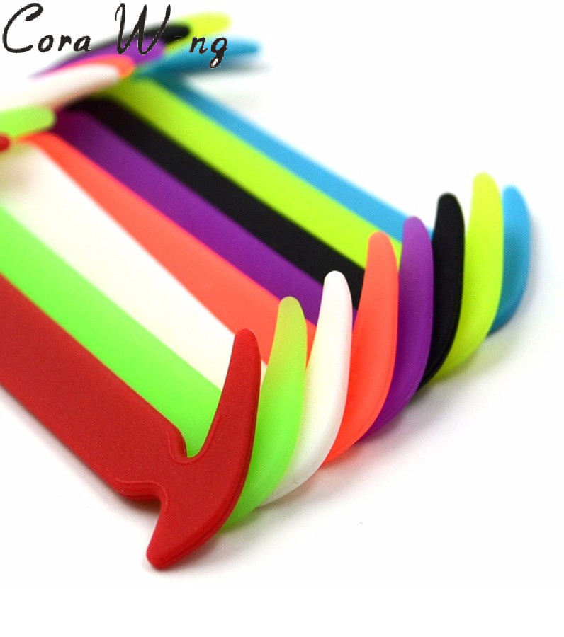 12PCS/Set Fashion UnisexShoelaces Silicone Elastic Waterproof Non Tie Shoe Lace Design For Easy Pull In and Lock DDSLA1011