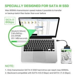 Image 5 - USB 3.0 SATA 3 Kablo Sata USB 3.0 Adaptörü 6 Gbps Destek 2.5 Inç Harici HDD SSD sabit disk 22 Pin Sata III Kablo
