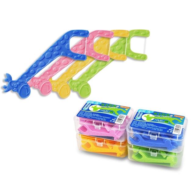 Children dedicated toothpick Dental Floss ,  plastic Kids floss pick Oral Hygiene Prevention Teeth Stick cleaner