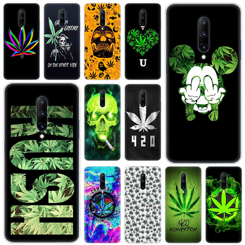Hot Abstractionism Art high weed Luxury Soft Silicone Fashion Transparent Case For font b OnePlus b