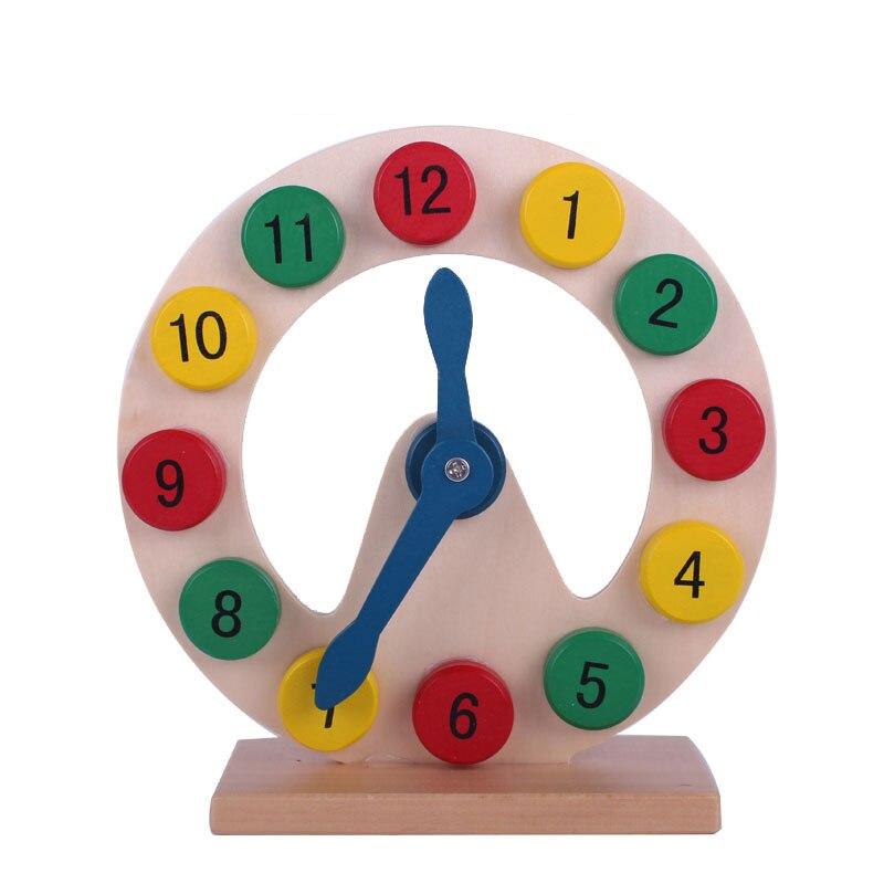 Деревянный Цвет ful Математика цифровые часы обучения и Развивающие детские игрушки Форма Цвет номера recognization подарки на день рождения для д...