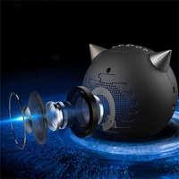 Multifunctional Devil Digital Alarm Clock Wireless Bluetooth Speaker FM Radio Support TF Card FP8