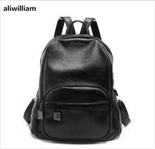 ALIWILLIAM Simple Soft Leather Japan South Korea Women Shoulder Bag Fashion Leisure Package College Ladies Backpack Package