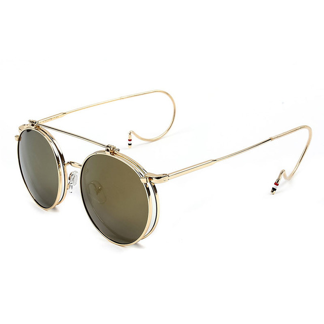 Cute Protective Round Shaped Mirror Steampunk Sunglasses