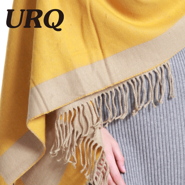 winter warm scarf for women with tassel print plaid very heavy soft long scarves for lady girl 2017 new luxury brand design