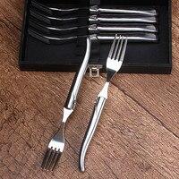 Laguiole Steak Forks Set Stainless Steel Cutlery Dinnerware Steaks Knife Tableware Set Restaurant Kitchen Tool Set Of 6