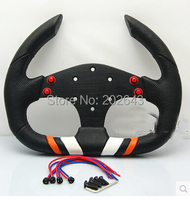 GV SW303 Steering Wheels With Pu And Leather Aluminum Branket 13 Szie Fashioin Style Support Wholesale