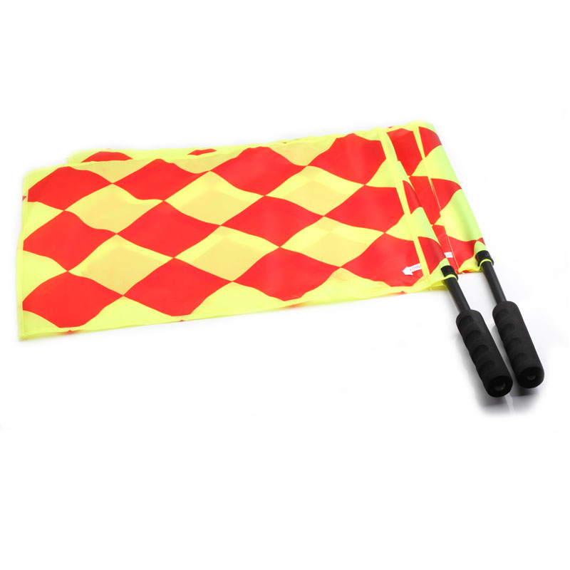 Football Referee Flag with Carry bag Soccer Linesman flags for referee Sideline equipment Sports Football Match Flags