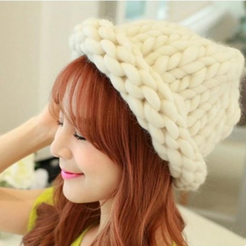 Korea Katie Mote tykt stort garn for lue og skjerf tykk strikking DIY - Kunst, håndverk og sying - Bilde 1