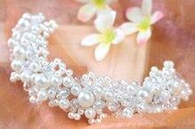 White pearl crystal headdress