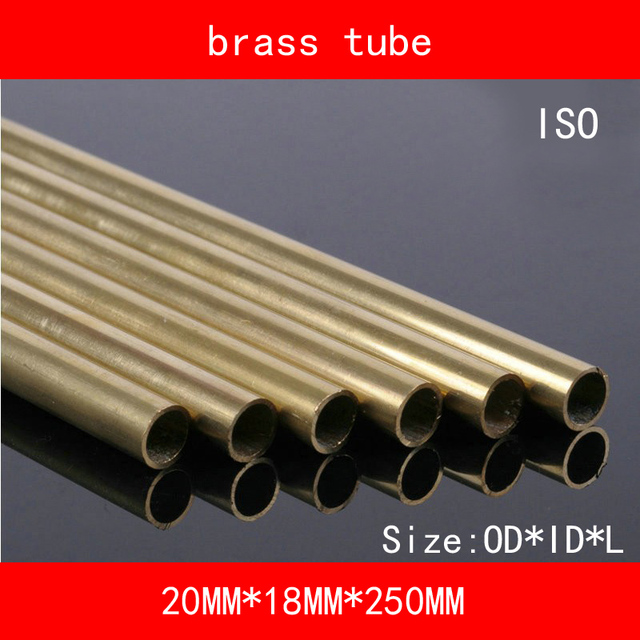 H62 Brass Tube Copper Seamless Pipe OD*ID*Length 12*6/8/10*250mm ASTM C28000 CuZn40 CZ109 C2800 Hollow Bar ISO Certified