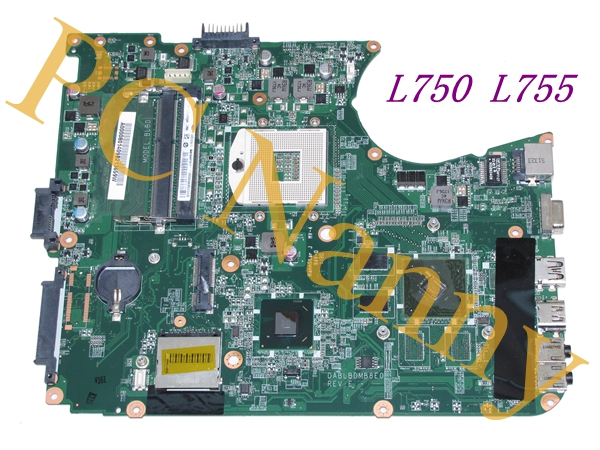 A000080140 DABLBDMB8E0 Motherboard For Toshiba L750 L755 Intel Hm65 * with Nvidia Graphics chip * high quality