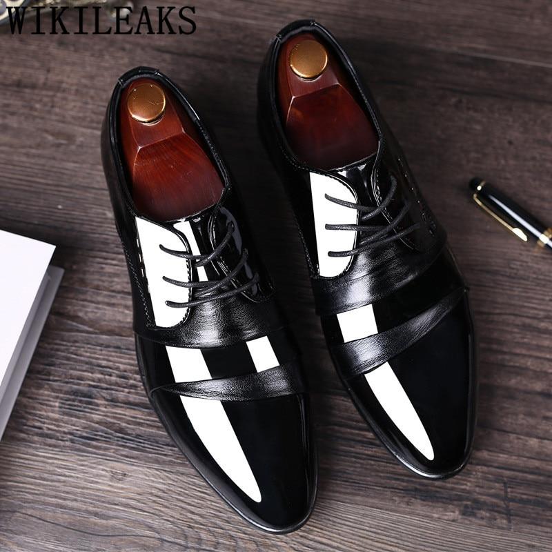 f215ea55 De Lujo italiano zapatos de diseñador Zapatos de vestir para hombre Zapatos  de oficina de cuero elegante hombres oxford zapatos calzado hombre sapato  social ...