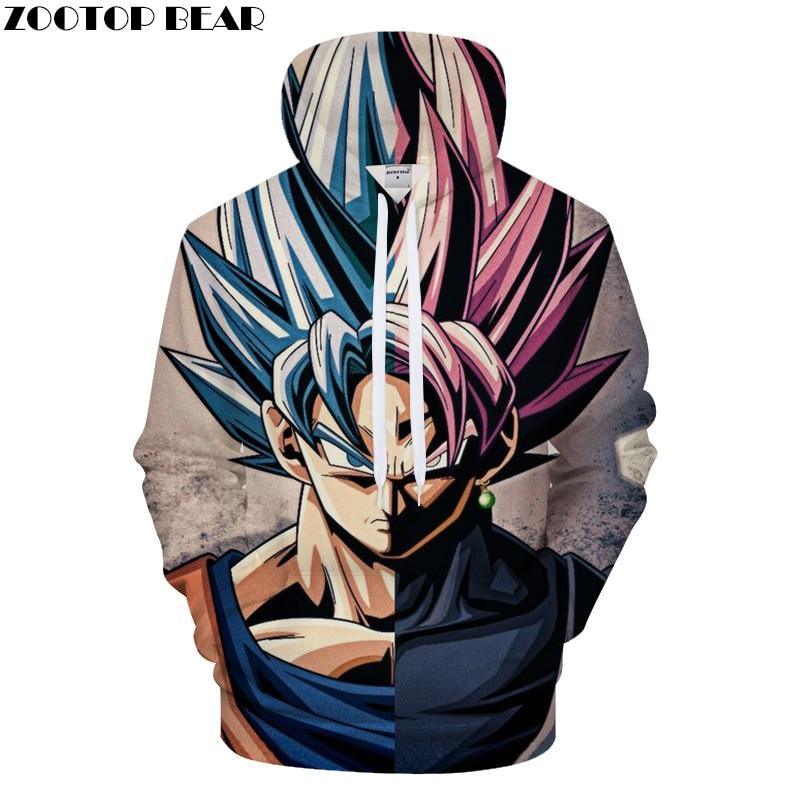 Goku 3D Hoodie Men Hoody Dragon Ball Printed Tracksuit Anime Sweatshirt Women Coat Streatwear Hot Pullover DropShip ZOOTOPBEAR