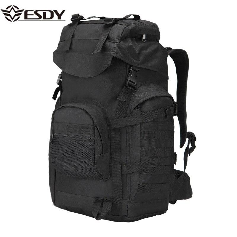 Sports de plein air randonnée sac à dos chasse Camping femmes hommes 50L Trekking tactique escalade étanche militaire Camouflage armée sacs
