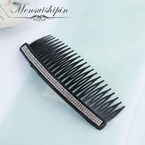 Neuheiten Zähne Eingesetzt Kamm DIY Haar Zubehör Haar Kämme Liefert Stahl Platte Eisen Silber Haar Werkzeug