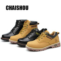 shoes men Work shoes boots Steel toe cap Anti smashing anti piercing Men Multifunction Protection Footwear Safety Shoes CS 380