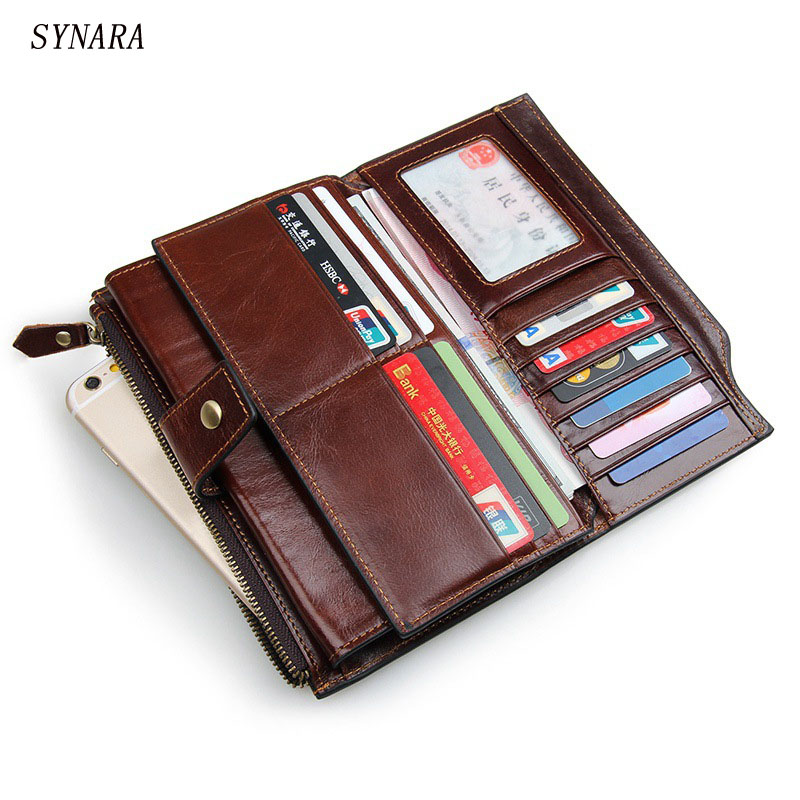 Dollar Price New Carteras Men's Standard Wallet Clutch Genuine Leather Wallet Male Handy Bags Purse Men Monederos Wallets dollar price new european and american ultra thin leather purse large zip clutch oil wax leather wallet portefeuille femme cuir