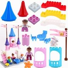 Diy blocos de construção grande tamanho acessórios castelo duploed tijolos peças modelo educacional crianças brinquedos para crianças presente do bebê