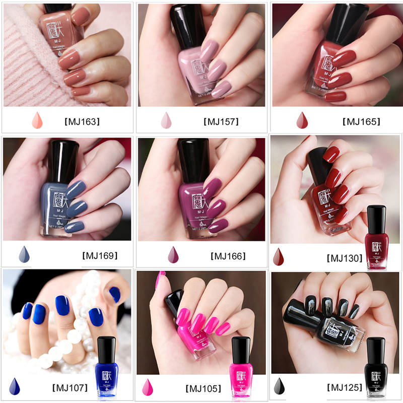 2017 New Professional Nail Art Polish Make Up 30 Colors Pigment 8ml Peel Off Nude Red Nail Polish Quick Dry