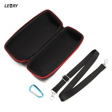 LEORY Speaker Bag Portable EVA Hard Shockproof Travel Carry Storage Hard Cover Pouch Box Case Bag Carrying Case For JBL Charge 3