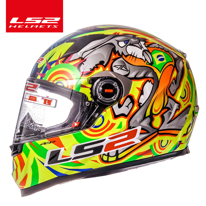 LS2 alex barros Full Face motorcycle helmet racing moto helmets isigqoko capacete casque moto ECE approved no pump FF358 helmets original ls2 ff353 full face motorcycle helmet high quality abs moto casque ls2 rapid street racing helmets ece approved