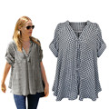 Women Blouses Turn Down Collar Plaid Blouse Long Sleeve Shirt Women Loose Casual Women Tops and Blouses Fashion Plus Size XXXXXL