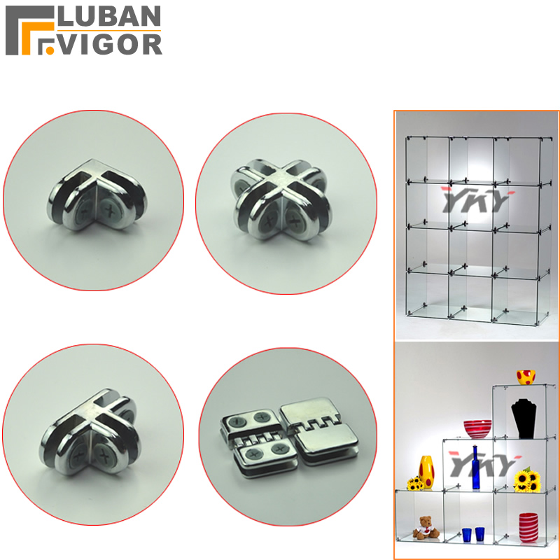 Glass/Acrylic Showcase Clamp/clips/connector,Assembly Parts,for 5mm Glass/Acrylic,without Drilling,easy To Install,Hardware