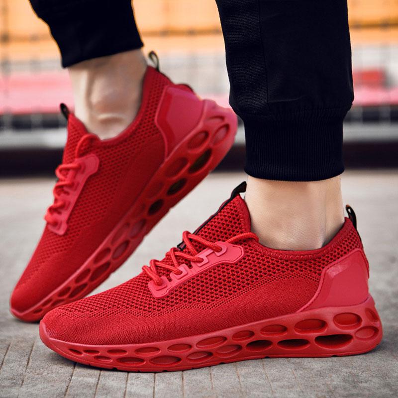 SUROM Men Breathable Mesh Running Shoes For Men Lightweight Outdoor Sport Shoes Men Jogging Sneakers Zapatillas Hombre Deportiva