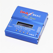 Free Shipping 80W Professional iMAX B6-AC B6AC Lipo NiMH 3S RC Battery LCD Digital Balance Charger/Discharger