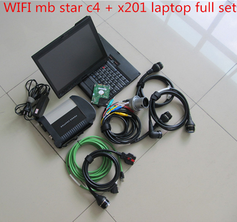 MB Star C4 SD Connect V2017.09 wifi Mb Star Diagnosis Full System mb star Multiplexer with Thinkpad X200T Laptop