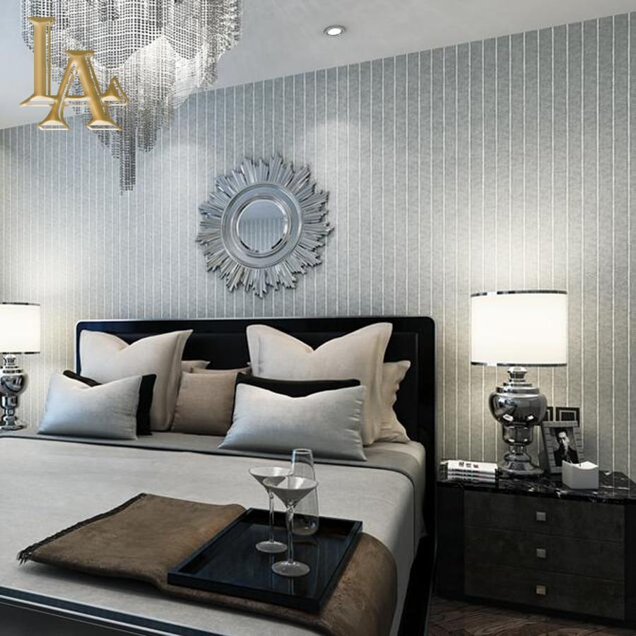 vintage bambus texturierten vertikale gestreifte tapete wohnzimmer sofa tv decor einfach tiefe blau beige grau streifen - Tapete Grau Wohnzimmer