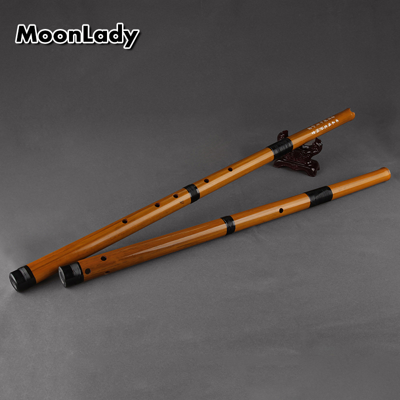 F/G Key Vertical Bamboo Flute 6 Holes Brown Musical Instreuments Chinese Handmade Woodwind Instrument Easy To Learn