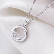 925 sterling silver Pendant necklace Clear spring Womens fashion jewelry wholesale