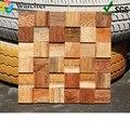 1 caixa 11 peças novo projetado rosewood mosaico padrões, madeira mosaico arte, mosaico de madeira telha arte parede decorativa para decoração de casa