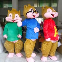 Park Alvin wiewiórki Maskotki kostium Maskotki kostium z indywidualizacja z Maskotka kostium Cosplay parada tego tematu
