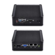 Qotom-Q190S-S02 Quad Core 2.0 ГГц до 2.42 ГГц процессор Celeron J1900 бизнес компьютер Мини-ПК промышленных fanless Dual LAN