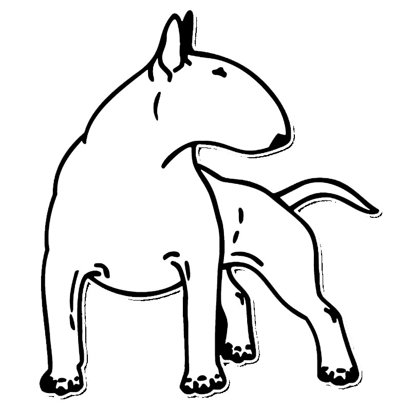 12.3*14CM Bull Terrier Dog Car Bumper Stickers Funny Decals Car Styling Decoration Accessories Black/Silver S1-0265 14cm 9cm fashion x wing star wars funny vinyl car styling decal car stickers black silver s6 3687