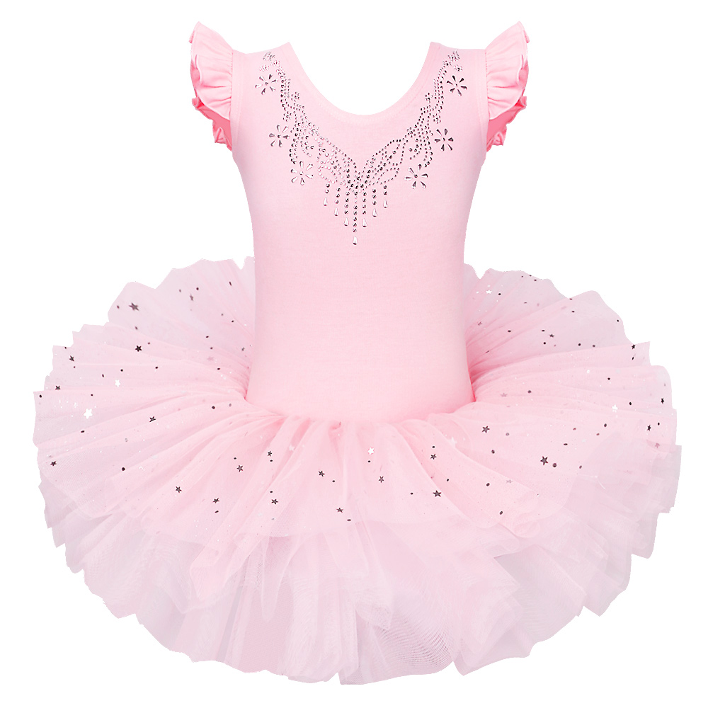 BAOHULU 2018 Party Fancy Costume Cosplay Sparkly Dresses Petal Sleeve Girls Ballet Tutu Dress Diamond Bow Ballet Dance Leotard customized girl blue bird ballet tutu dresses ballet dress design dance tutu best selling anna shi classical spandex stage tutu