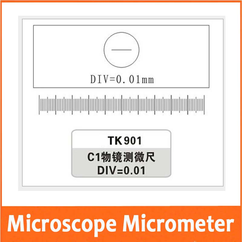 Free Shipping 0.01MM Microscope Stage Micrometer Glass slide Reticle Measuring Microscope Micrometer Calibration цена