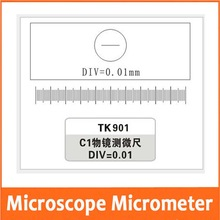 Free Shipping 0.01MM Microscope Stage Micrometer Glass slide