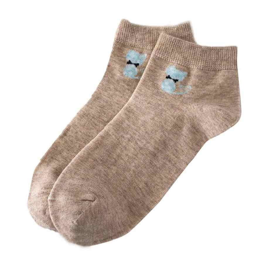 Feitong ผู้หญิงถุงเท้ารอยเท้าแมวแมวสัตว์ลายถุงเท้าผ้าฝ้ายอบอุ่นถุงเท้าผู้หญิงถุงเท้า calcetines mujer 2019