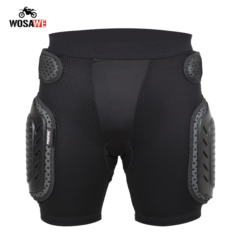 WOSAWE Motorcycle hip protection Shorts Motocross Hip Pads Protection Skateboard Snowboard Hip Protective Gear Skiing short