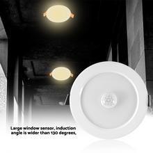 7w/5w Round LED Spot Light Infrared Sensor Downlight Human Body Induction Indoor Recessed